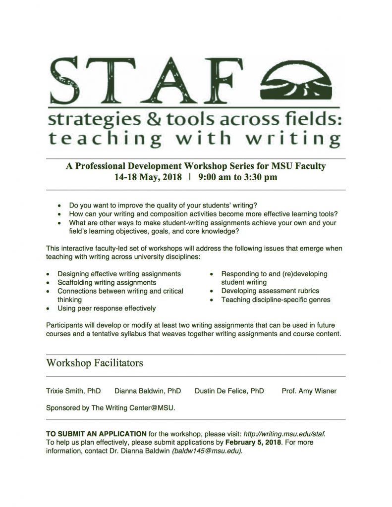 Deadline to submit an application for STAF