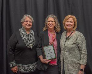 Barbara Sawyer-Koch, Clare Luz, Provost June Youatt