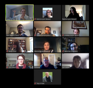 Screenshot of the cohort during our last meeting in April.