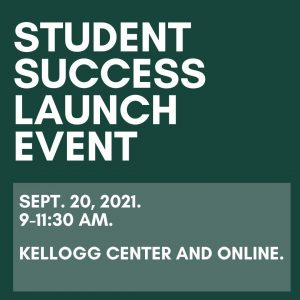 2021 student success launch event title graphic